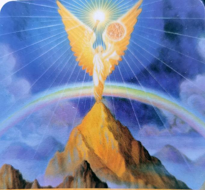 angelu kortos, angelo korta, urielis, arkangelas, arkangelas urielis, briliantine ranka, magija, kortos, burimo kortos, magija, bureja