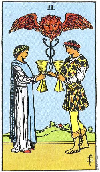 dvi taures, taures, taro kortos, taro korta, taro, partneryste, magija, burimai, burimai kortomis
